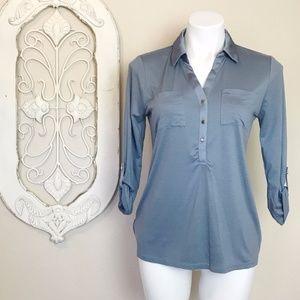 Ann Taylor   Blue Long Sleeve Top S